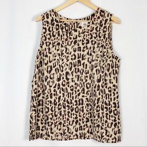 Cabi | Animal Print Ginger Top Blouse Sleeveless
